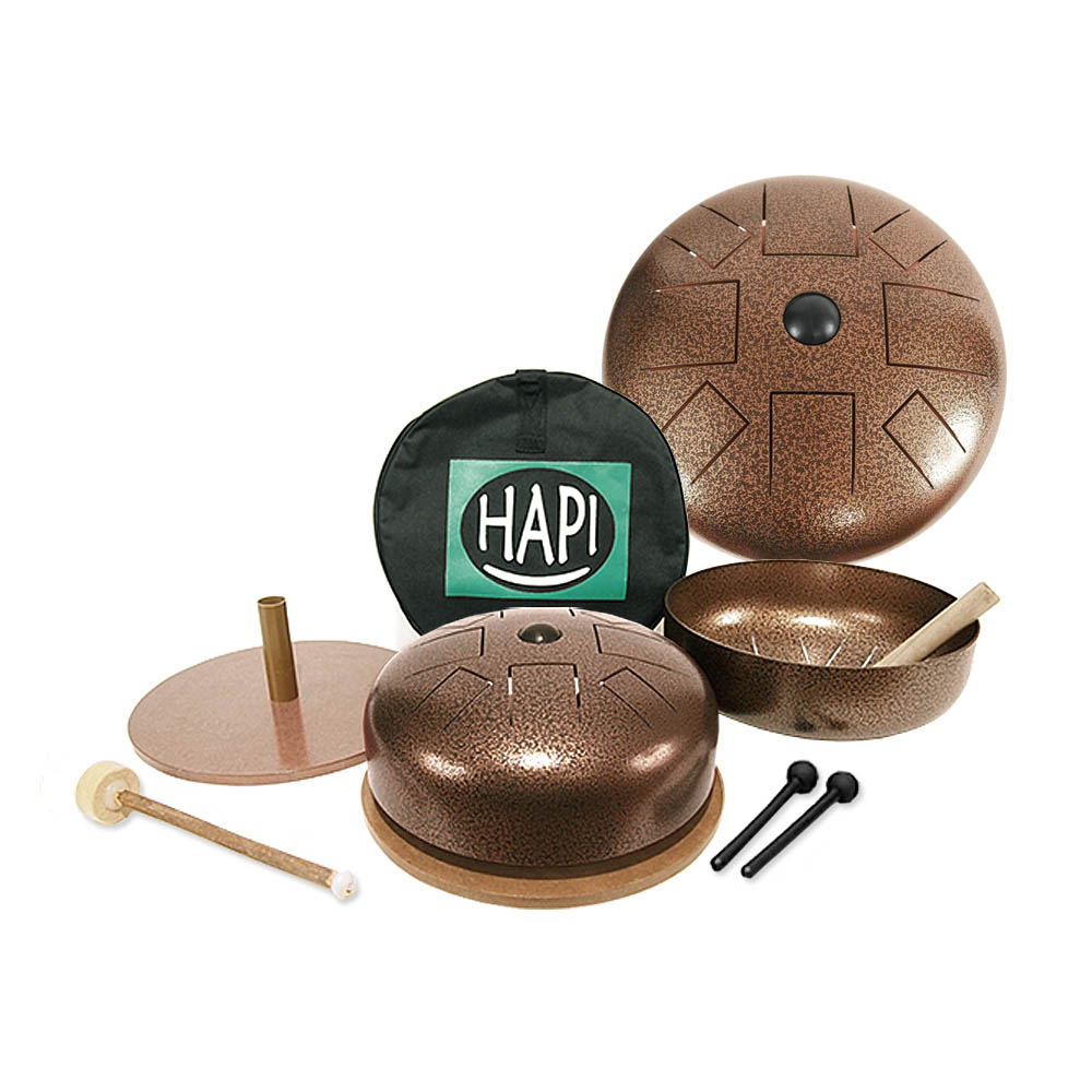 HAPI Bell Singing Bowl Tongue Drum in one
