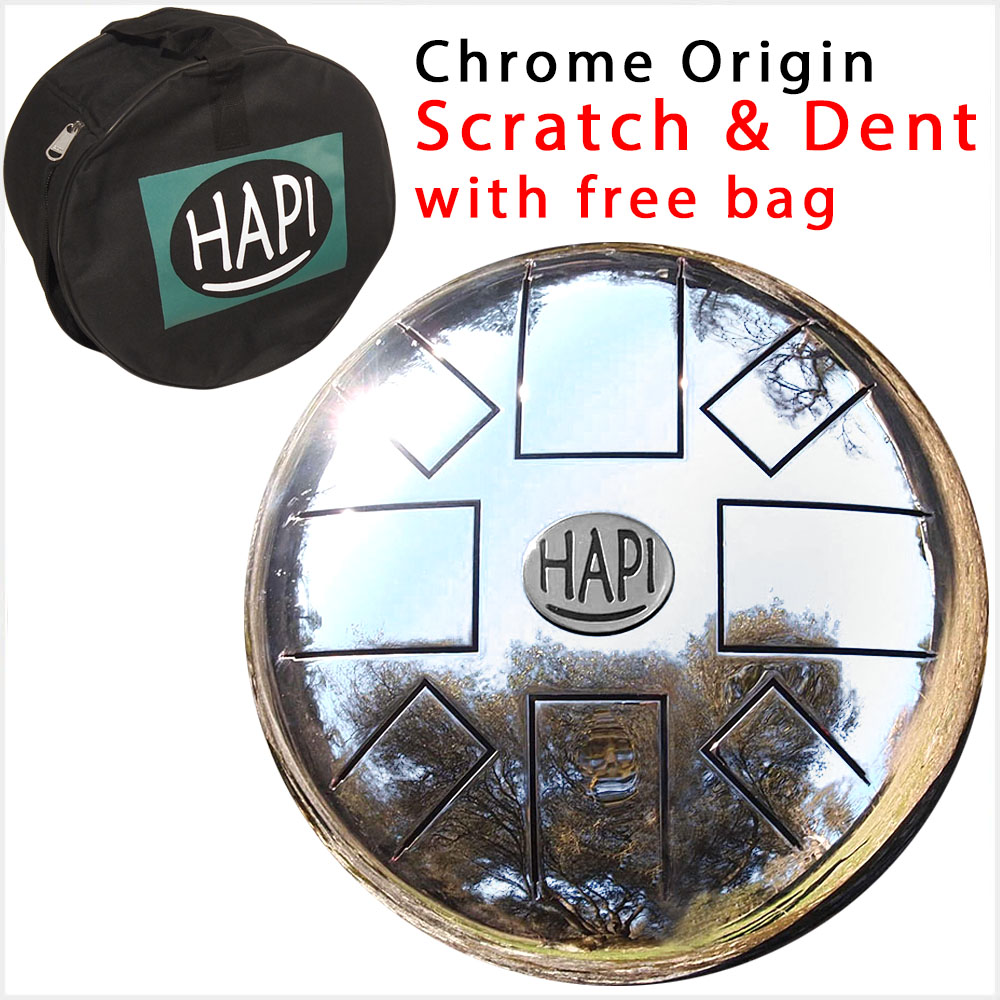 HAPI Steel Tongue Drum Chrome Origin top