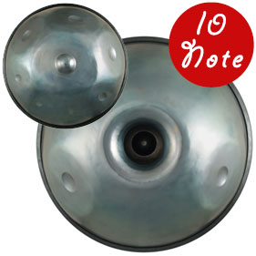 handpan steel drum hapi ten note