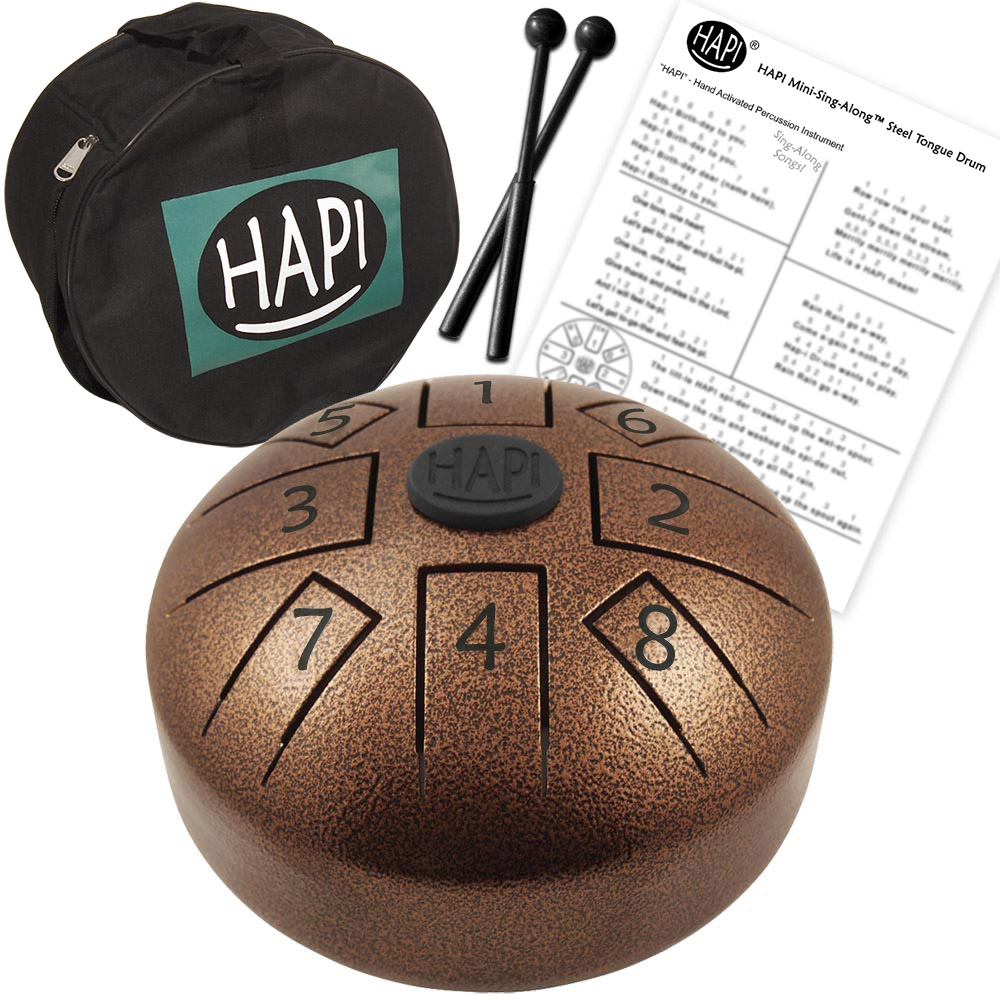 HAPI Steel Tongue Drum Sing Along Mini Top